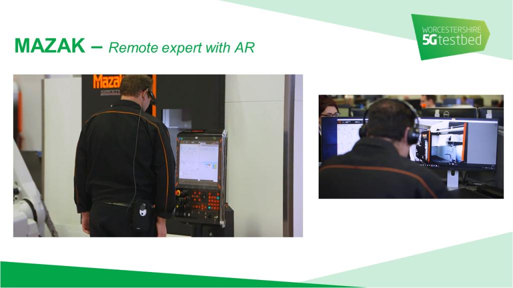 Mazak - Remote expert with AR